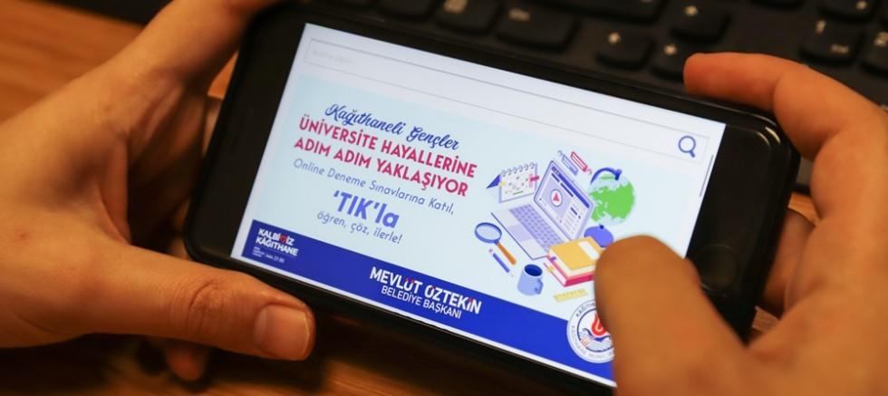 Belediyeden üniversite adaylarına online destek