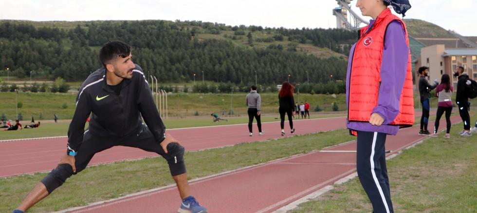 Milli atlet, Olimpiyat'a hazırlanıyor