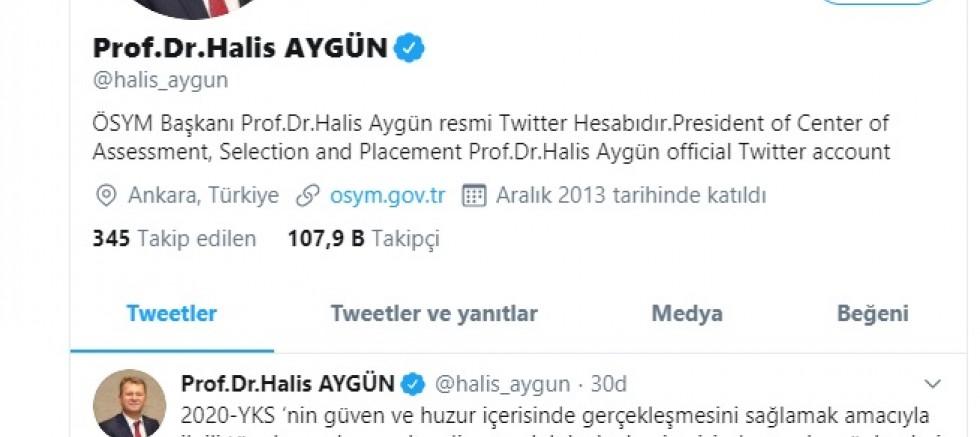 ÖSYM Başkanı Aygün'den açıklama!