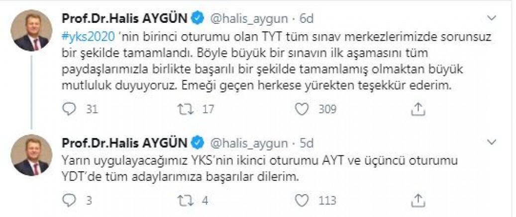 ÖSYM Başkanı Aygün'den 'YKS' açıklaması