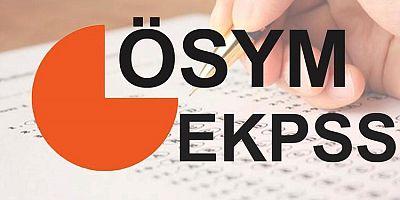 EKPSS 26 Nisan'da