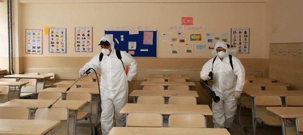 Virüse karşı okullarda önlem