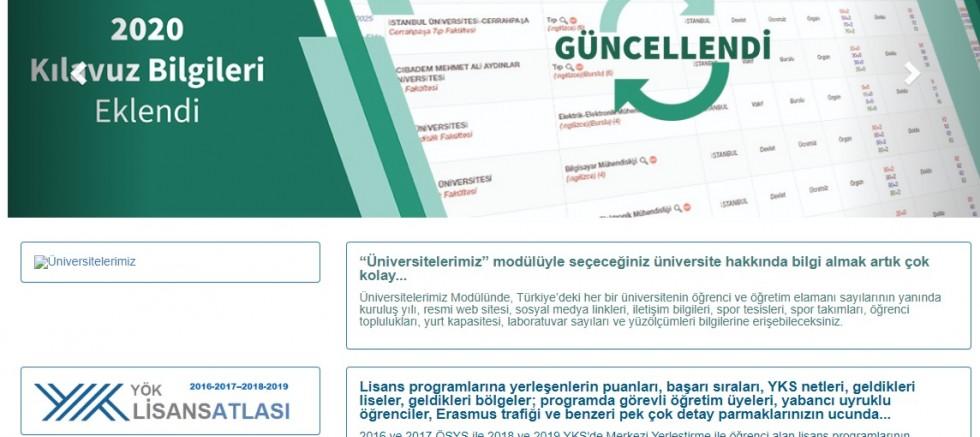 YÖK Atlas, üniversite tercihi için güncellendi